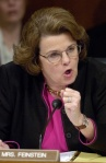Senator Dianne Feinstein makes a point to Judge Samuel Alito in Washington